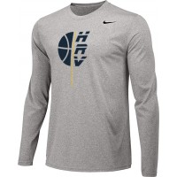 Hood River Boys Basketball 13: Adult-Size - Nike Team Legend Long-Sleeve Crew T-Shirt - Gray