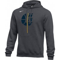 Hood River Boys Basketball 18: Adult-Size - Nike Team Club Fleece Training Hoodie (Unisex) - Anthracite Gray