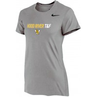 Hood River Track 12: Nike Women's Legend Short-Sleeve Training Top - Gray