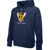 Hood River Track 18: Adult-Size - Nike Team Club Men's Fleece Training Hoodie - Navy Blue