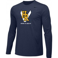 Hood River Track 13: Adult-Size - Nike Team Legend Long-Sleeve Crew T-Shirt - Navy Blue