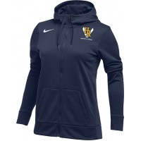 Hood River Track 22: Nike Women's Therma All-Time Hoodie Full Zip - Navy Blue